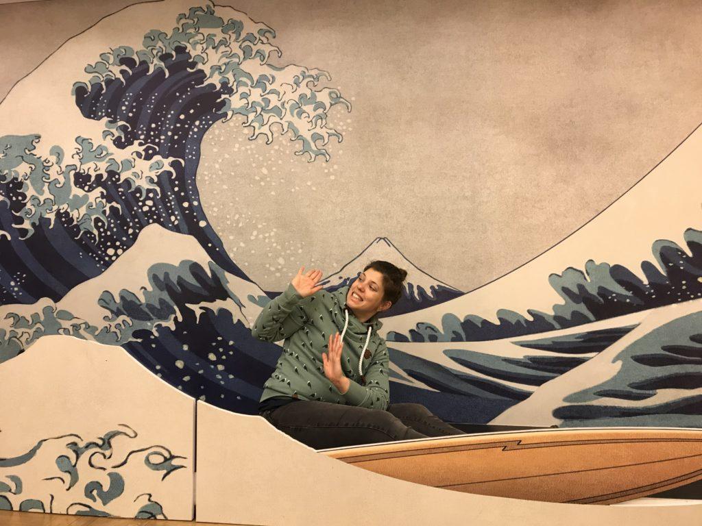 Interaktion mit einem Bild von Katsushika Hokusai
