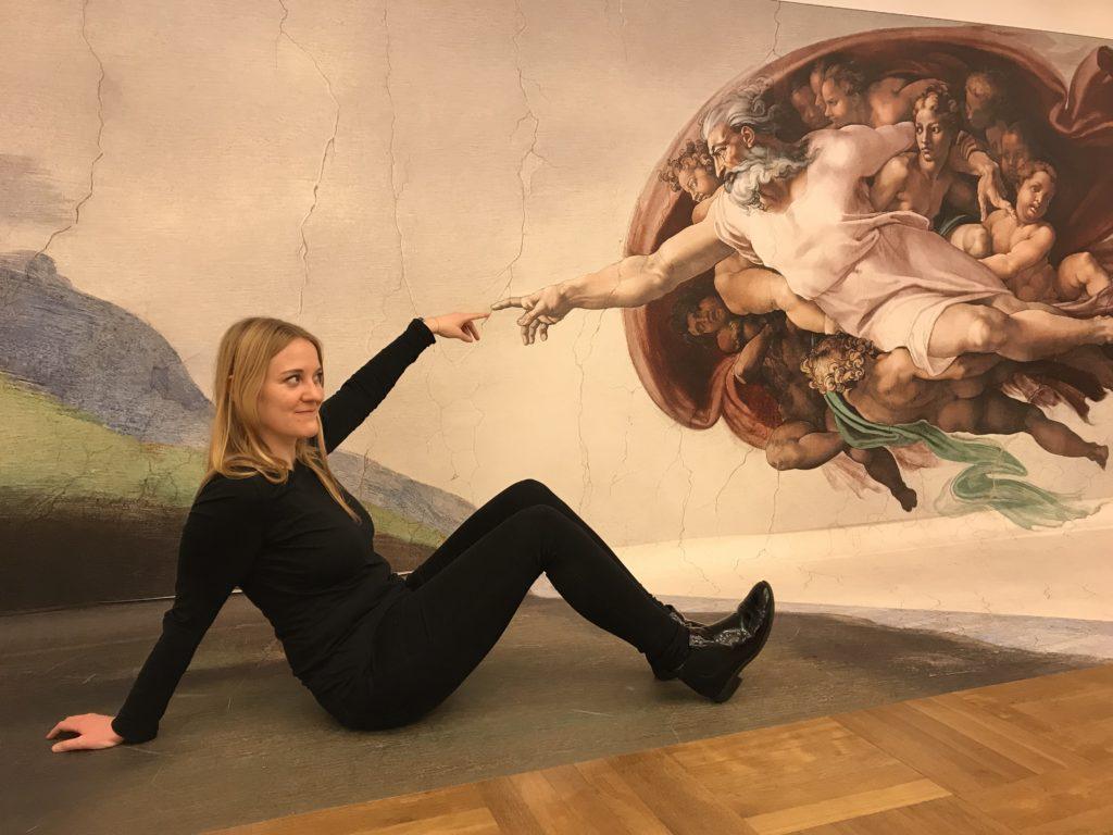 Interaktion mit einem Bild von Michelangelo