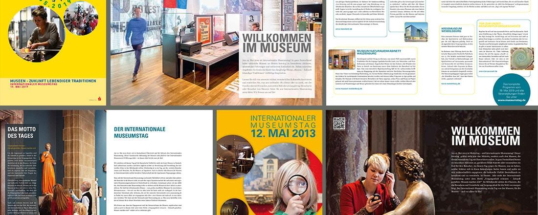 Werbeflyer für den Deutschen Museumsbund