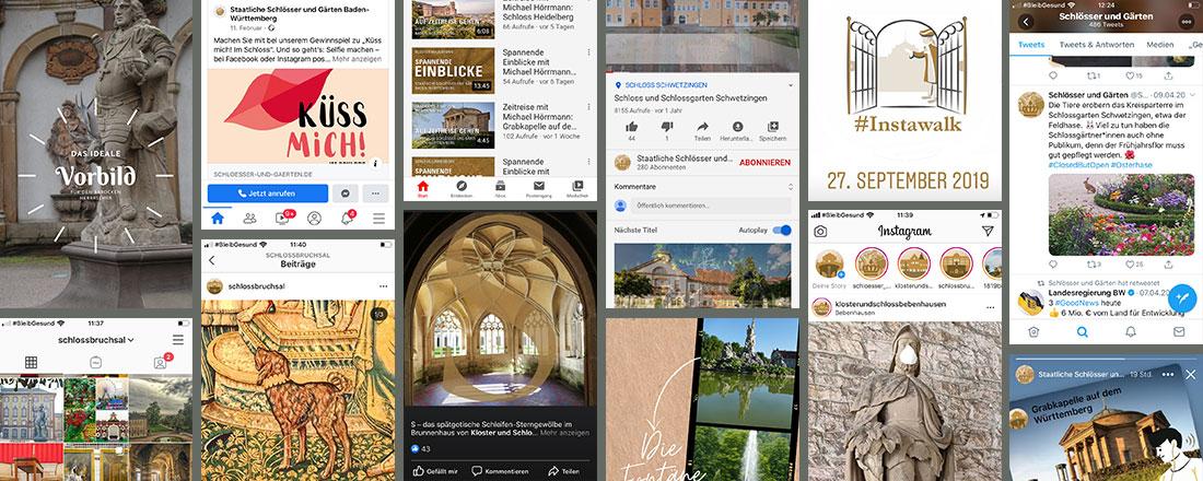 Social Media für die Staatlichen Schlösser und Gärten Baden-Württemberg