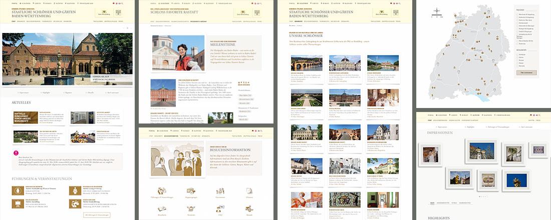 Online-Redaktion für die Website der Staatlichen Schlösser und Gärten Baden-Württemberg
